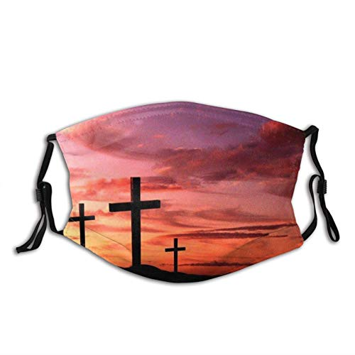 Galaxy Cross Christian Cross-Face Mask Balaclava, Washable&Reusable with 2 Pcs Filters, for Adult Women Men&Teens