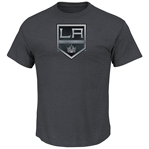 NHL T-Shirt Los Angeles Kings LA L.A. Raise The Level Heathered Eishockey Shirt (S)