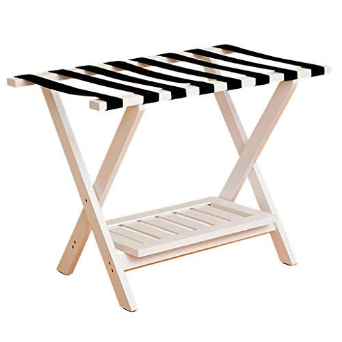 Find Bargain Luggage Racks- Solid Wood Hotel Luggage Bedside Clothes Luggage Rack Hotel Racks Bedroo...