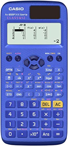 Casio FX-85SPXII - Calculadora científica, Recomendada para el Curriculum español y portugués, 252 Funciones, Solar, Color Azul