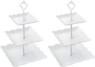 Invero 3 Unidades, 30,5 x 18 x 28,5 cm Soporte de Madera con Acabado de Pizarra