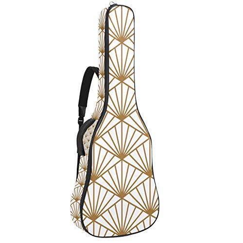 Bolsa de guitarra eléctrica resistente al agua, con cremallera, suave, para guitarra acústica y clásica, color dorado