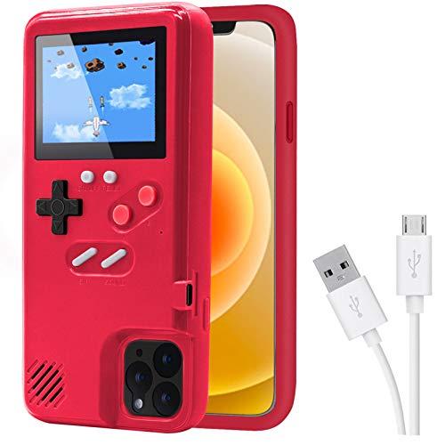 Dikkar Game Case für iPhone, Retro-Schutzhülle mit Eigener Stromversorgung,36 Kleine Spiele,Farbdisplay,Videospieletui für iPhone 12/11/Pro/MAX/12Mini/X/Xs/MAX/Xr/6s/7/8/Plus