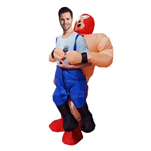 shjklb Disfraz Inflable de Luchador de Halloween, Disfraz Inflable de Halloween Disfraces de Cosplay Disfraz de Luchador de Sumo Inflable Disfraz para Adultos Disfraces inflables