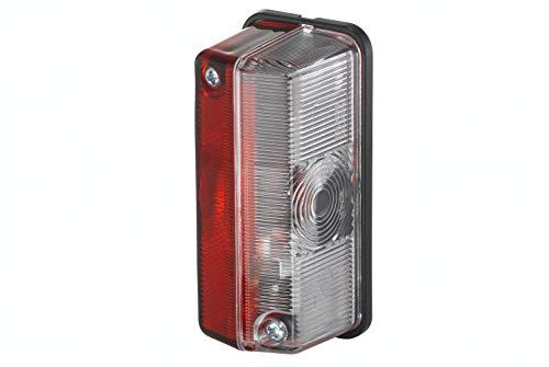 HELLA 2XS 005 020-001 Luz de gálibo - 24V - montaje exterior - Color de tulipa: transparente/rojo/blanco - izquierda/arriba/derecha/Montaje lateral ext.