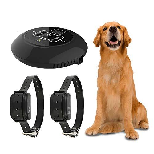 YTFU Recinzione elettrica Wireless per Cani, Sistema di contenimento per Animali Domestici Allaperto, Collare elettronico Ricaricabile Impermeabile per addestramento Cani, Vibrazioni e Urti per Cani