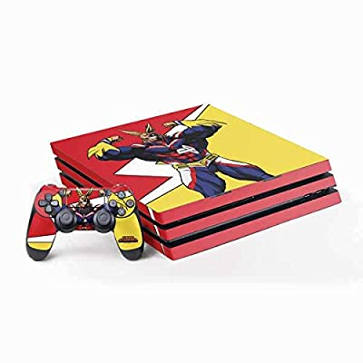 Skinit Decal Gaming Skin for PS4 Pro Console and Controller Bundle - Officially Licensed Funimation All Might Design
