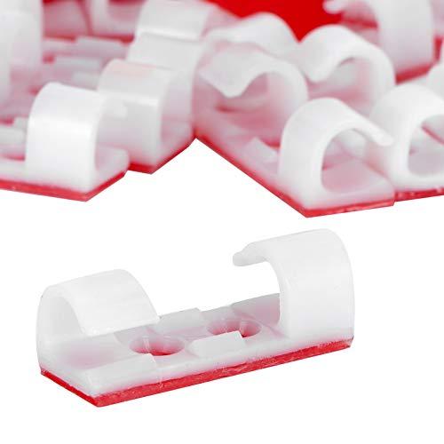 Clip de cable, organizador de cables Hebilla de fijación de cables para cargadores de teléfonos móviles para cables de alimentación para cables de carga para cables USB(white)