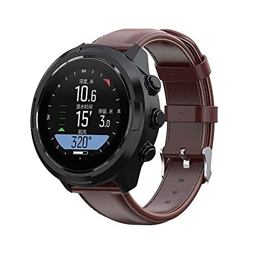 Gransho compatível com Suunto 9/7 / D5i / TRAVERSE/Spartan Sport Wrist HR Baro Pulseira de Relógio, Pulseira de Couro Superior Para Substituição (Pattern 3)