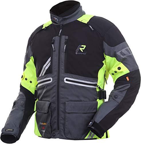 Rukka Offlane Chaqueta textil para motocicleta, gris/amarillo, 54