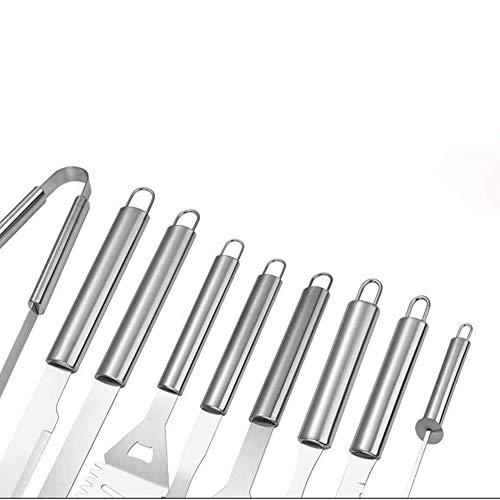 41Hl51SwqcL - ZM-Shoes 20 PC-BBQ-Grill-Werkzeug-Set, Edelstahl Grill-Zubehör Mit Speicher-Beuteln, Die Kompletten Außen Barbecue Grill Utensilien Set, Grill Grill Werkzeuge Set Für Freunde Familie,10pcs