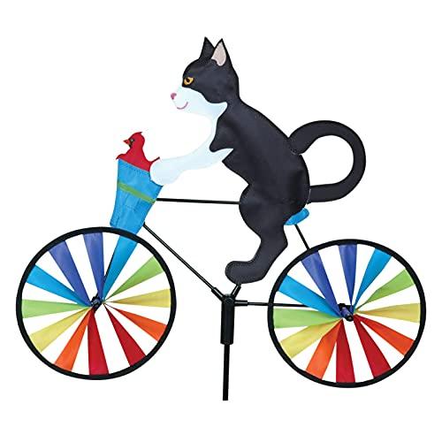Alliwa Windmühle Garten Windmühle Katze Fahrrad Windrad Kinder Gartenstecker Gartendeko Windspiel Garten Wetterfest (B)