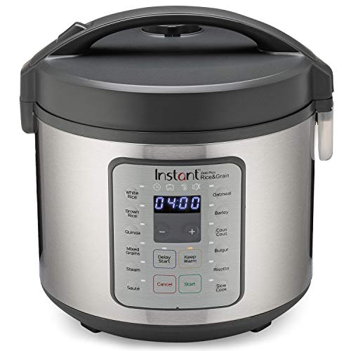 Instant Zest Plus 20 Cup Rice Cooker, Steamer, Slow Cooker,13 One Touch Programs, No Pressure...