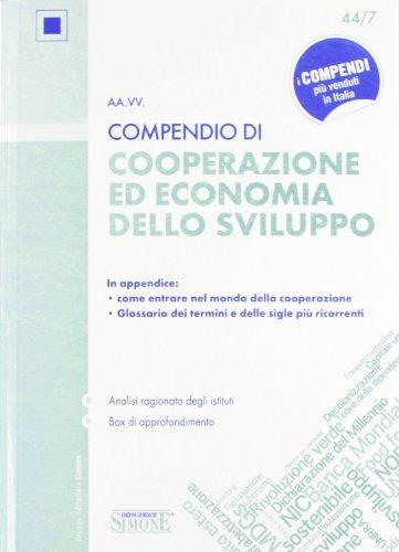 Compendio di cooperazione ed economia dello sviluppo