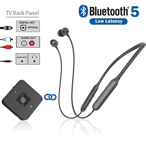 cheap Bluetooth headphone transmitter for watching TV, Golvery wireless neckband stereo headphones …