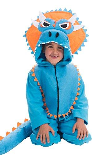 Disfraz de Triceratops Azul para niños