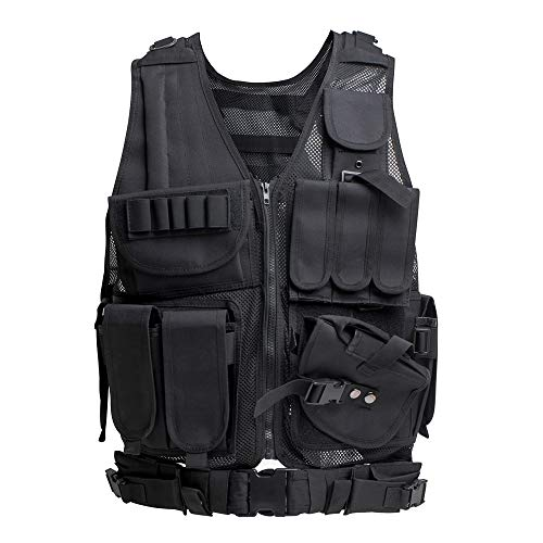 Himal Tactical Vest for Men-600D Encryption Polyester-Military Vest-Adjustable Lightweight Combat Vest