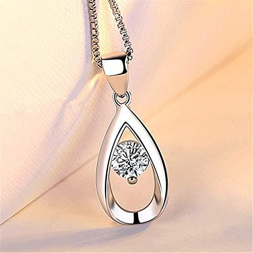 Pendientes de plata de ley para mujer, colgante de hada silvestre, colgante de corazón simple, cadena de clavícula