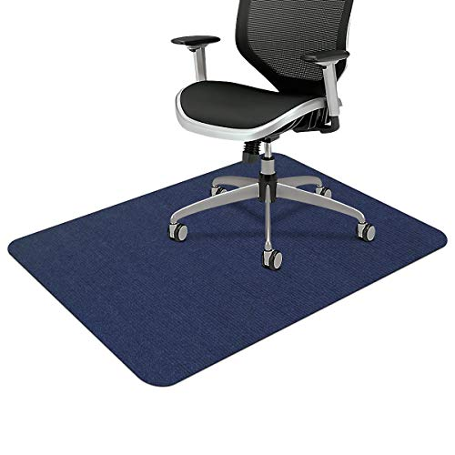 Office Chair Mat, Upgraded Version - Office Desk Chair Mat for Hardwood Floors, 1/6' Thick 55'x35' Hard Floor Protector Mat, Multi-Purpose Chair Carpet for Home (Dark Blue)