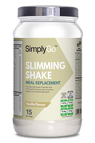 High Protein Slimming Shake for Weight Loss | Meal Replacement Powder Suitable for Men & Women | Made in the UK (Vanilla)