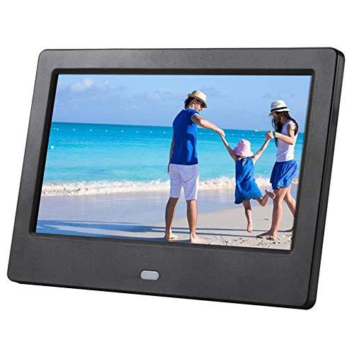 7-Zoll-LCD-Breitbild-HD-LED-elektronisches Fotoalbum Digitaler Fotorahmen Wandwerbemaschine Geschenk Elfenbein