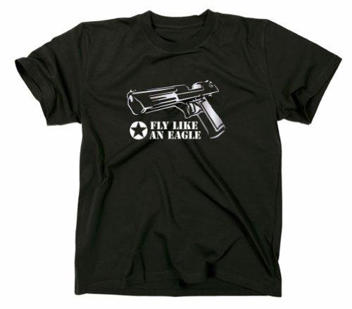 Desert Eagle Magnum MK T-Shirt CS Counter Strike Egoshooter schwarz XL