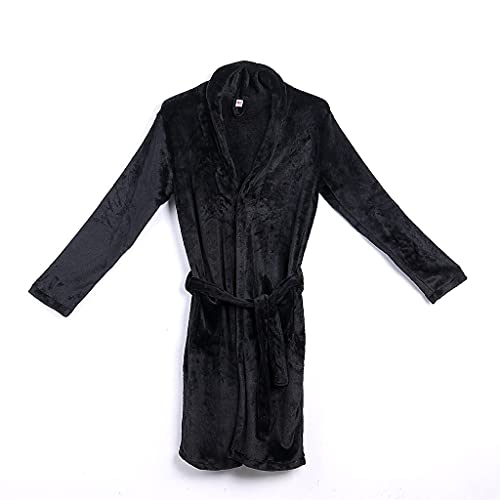 Zcjux Albornoz Para Hombre, Pijamas Cálidos De Otoño E Invierno, Pijamas De Albornoz Suave De Color Sólido Grueso, Ropa Informal Para El Hogar (Color : B, Size : M code)