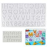 AFASOES 2 Pcs Moldes de Silicona para Resina Epoxi para Bricolaje Molde de Resina Moldes Bisuteria...