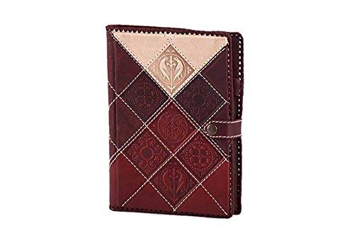 MAKEY A5 mittelgroßes Notizbuch aus recyceltem Leder, Handgearbeitet Tagebuch A5 Bordeauxrot