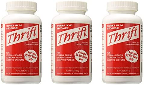 Thrift T 100 Alkaline Based 1 Pound Granular Drain Cleaner 3 Pack product image