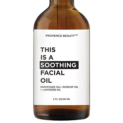 This is a SOOTHING Facial Oil - Grapeseed Oil + Rosehip Oil + Lavender Oil - 2 FL OZ | Provence Beauty (Soothing)