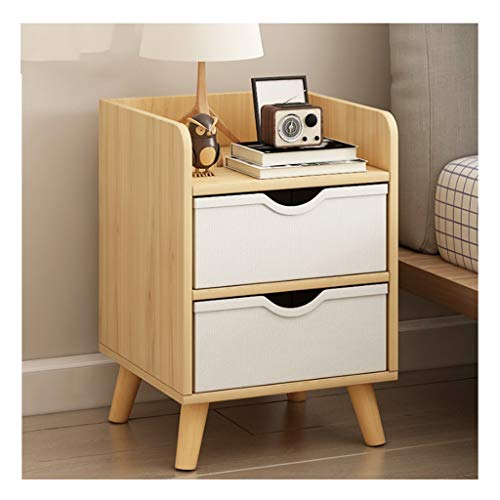 LICHUAN Side Table Nordic Nightstand Wooden Bedside Table With Drawer Organizer Storage Cabinet Fashion Mini Desk Bedroom End Tables End Table Easy Assembly (Color : Wood)