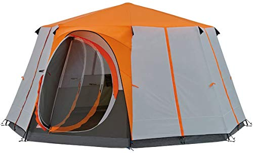 ZXL Dome Tent, for 6 to 8 Man Tent Octagon, Festival Waterproof Family Camping Tent with Sewn-in Groundsheet