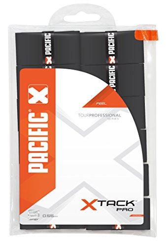 Pacific - Grip para Raqueta de Tenis (Pack de 12 Grips), Color Negro
