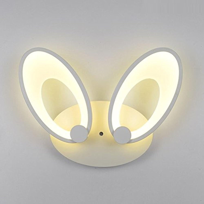 Eine moderne minimalistische kreative Korridor Lampe LED Hasenohren Acryl Licht verstellbare Schlafzimmer Wandleuchte, Einzelkopf 20  20cm12W warmweies Licht