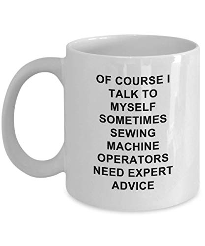 Thee Beker, Naaimachine Operators Koffie Mok Grappige Unieke Expert Beste Nieuwigheid Gift Idee voor Hem Haar Naaimachine Backstitch Baste Batting 11 oz Koffie Mok