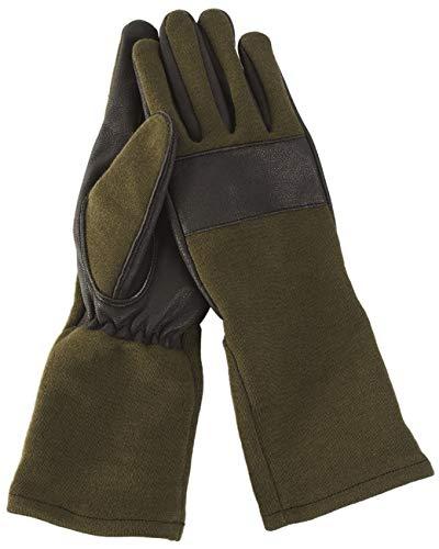 Mil-Tec BW Kampfhandschuhe Leder/Nomex Oliv Gr.S