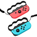 Grips for Fitness Boxing Switch, Controller Accessories for Switch Boxing Game, 2 Packs-Black