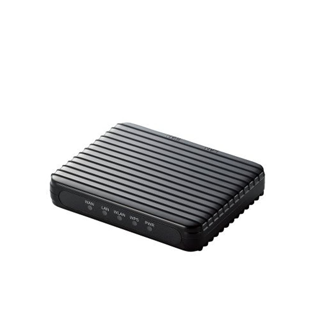 暴動ストラトフォードオンエイボン月曜日Logitec 11n/g/b Android用無線ルータ/内蔵アンテナ/ブラック LAN-W150N/RSPB