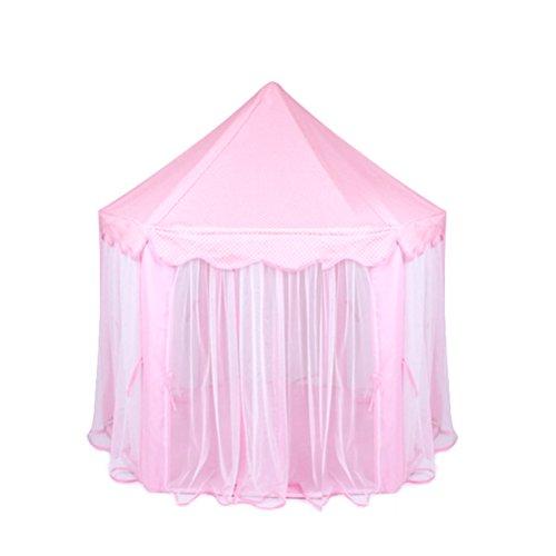 VORCOOL Hexagon Prinzessin Castle Cute Indoor Kinder Spielen Zelt Outdoor Mädchen Playhouse (Pink)