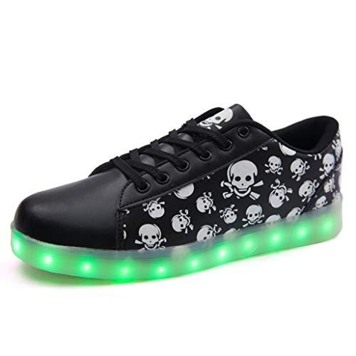 HFWJHH La Notte Nera Skateboardschoenen fluorescerende unisex sportschoenen voor winkelen, Danza Fantasma, skateboard USB