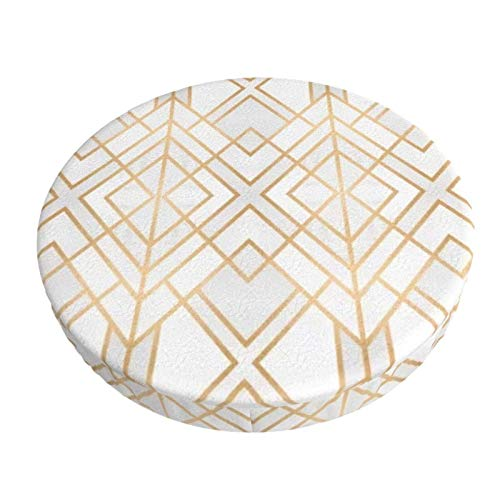 Round Bar Stools Cover,Golden Geo Syb,Stretch Chair Seat Bar Stool Cover Seat Cushion Slipcovers Chair Cushion Cover Round Lift Chair Stool