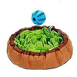 Meilo Perro olfatea la Alfombra.Juguetes interactivos para Perros, Dog Puzzle Toys, Almohadilla para olfatear Mascotas(Una Pelota Extra) (Green)