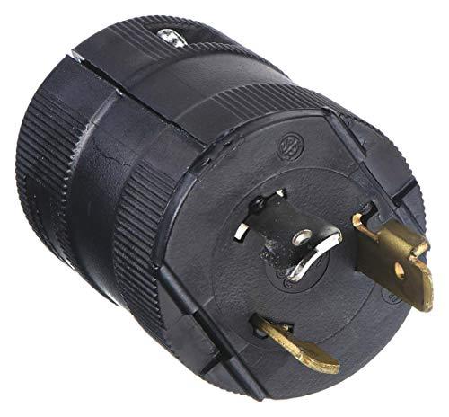 Hubbell HBL2331VBK Locking Valise Plug, 20 amp, 277V, L7-20P, Black