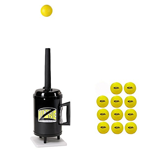 Hit Zone Deluxe Tennis Air Tee Ball Machine - Ball Floats in Air - Excellent Teachers Training Aid Or Students Can Practice Solo - Portable -T3-HZBV