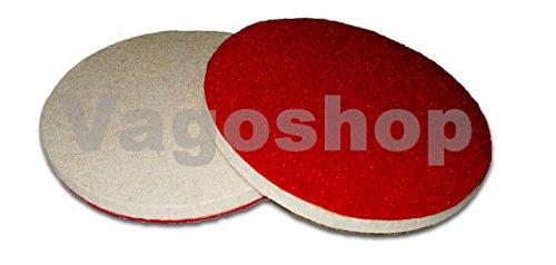 3 x Klett Filz Polierscheiben 125 mm Filzscheiben, Schleifscheiben, Polierdisc