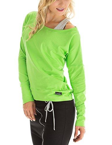 Winshape WS2 Tee-Shirt à Manches Longues pour Femme pour Loisirs, Sport et Danse L Vert - Vert Pomme