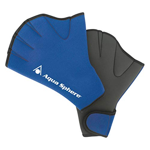Aqua Sphere Aqua Fitness Glove Neopren Schwimmhandschuh, blau, Medium