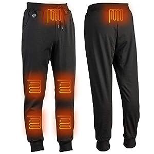 eventek Pantalones Calefactores USB 5V, Pantalones Calefactores Eléctricos para el Invierno al Aire Libre, Hombres/Mujeres (No Incluye la batería) (XL)