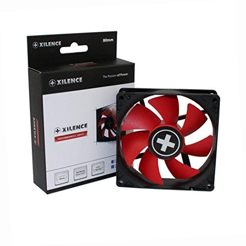 Xilence Performance C Serie | Gehäuselüfter | XF037 | 3Pin | 80 mm | rot/schwarz